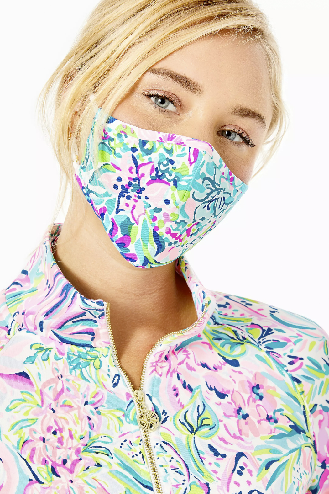 Lilly Pulitzer  Chillylilly Adult Face Mask-Set of 3 - Side Cropped Image