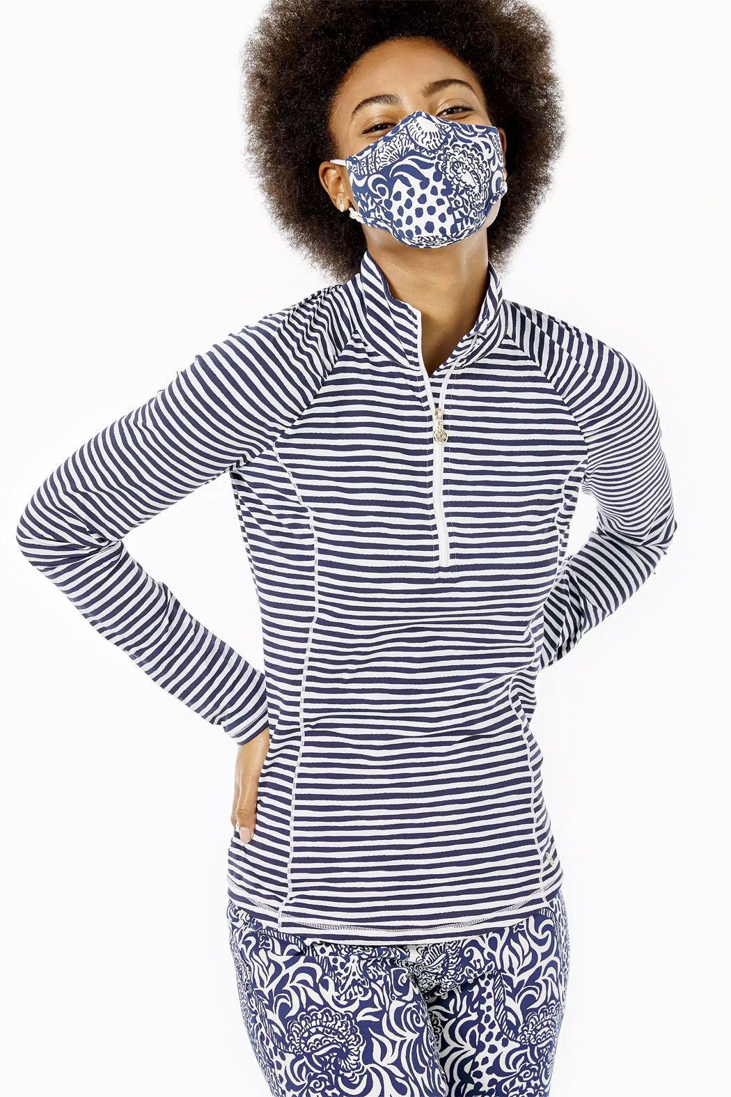 Lilly Pulitzer  Chillylilly Adult Face Mask-Set of 3 - Back Cropped Image