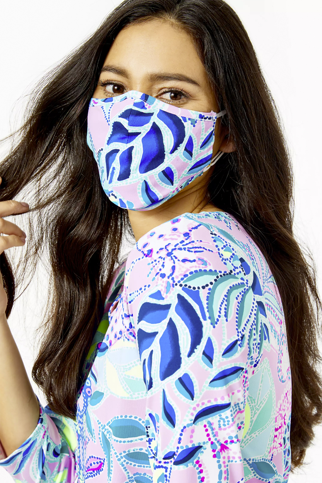 Lilly Pulitzer  Chillylilly Adult Face Mask-Set of 3 - Front Full Image