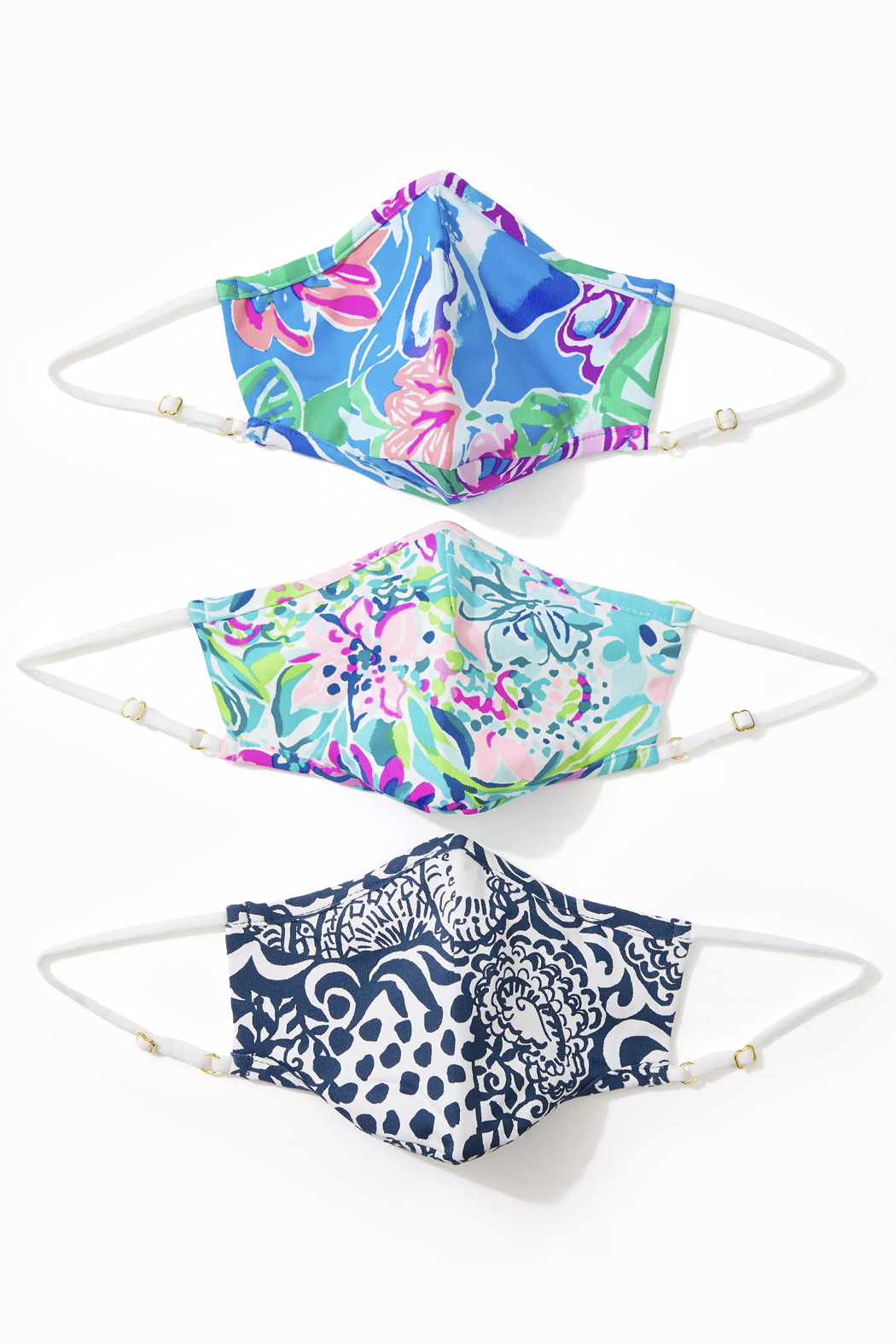 Lilly Pulitzer  Chillylilly Adult Face Mask-Set of 3 - Front Cropped Image