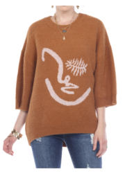 sisters Face Oversize Pullover - Side cropped