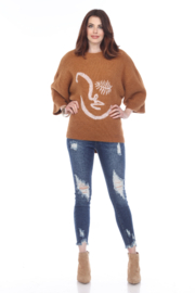 sisters Face Oversize Pullover - Front cropped