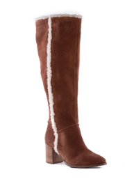 Seychelles Face to Face Shearling Tall Boot - Front full body