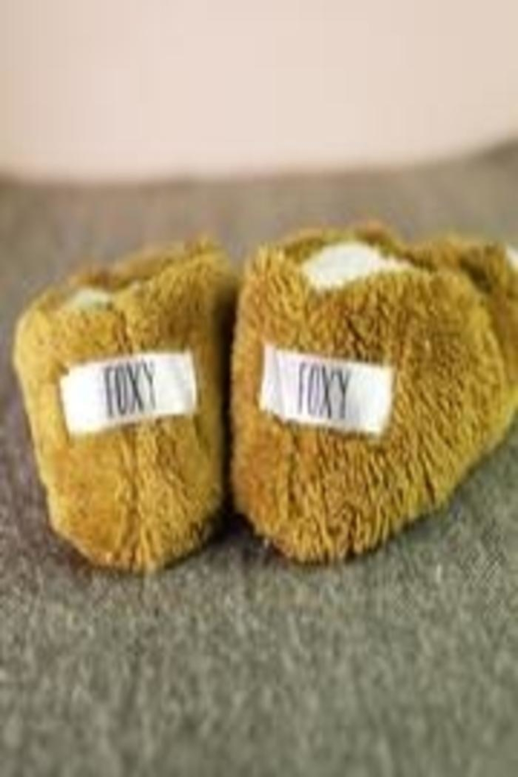 Face Plant Dreams Foxy Footsies Slippers - Front Full Image
