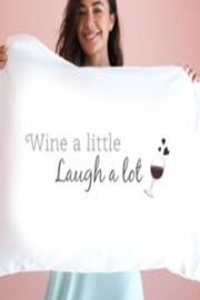 Faceplant Dreams Wine Pillowcase - Front full body