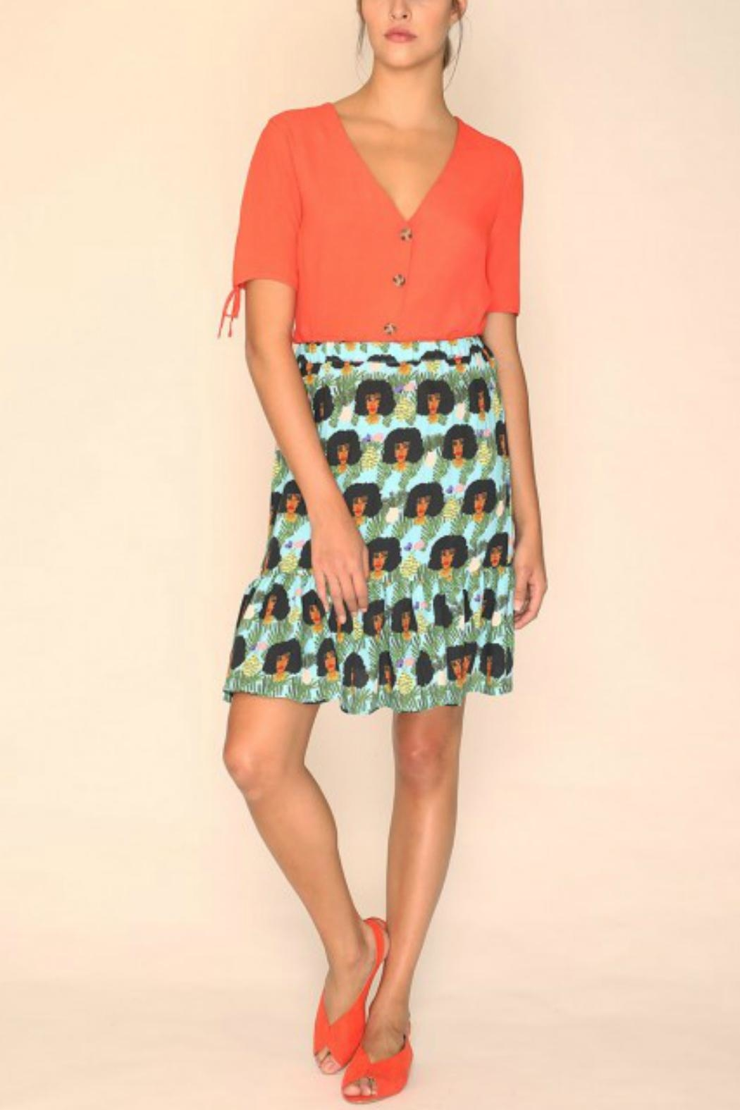 PepaLoves Faces Skirt - Side Cropped Image