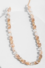 Saachi Faceted Bead and Stone Necklace - Product Mini Image