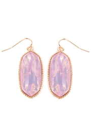 Riah Fashion Faceted-Gem-Cut Drop Earring - Product Mini Image