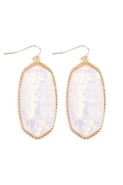 Riah Fashion Faceted-Gem-Cut Large Drop-Earring - Product Mini Image