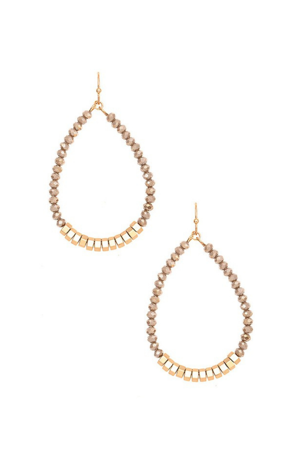 Andrea Bijoux Faceted Glass Bead Teardrop Earring - Front Cropped Image