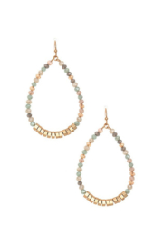 Andrea Bijoux Faceted Glass Bead Teardrop Earring - Front cropped