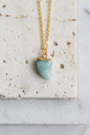 Mesa Blue Faceted Horn Necklace - Product Mini Image