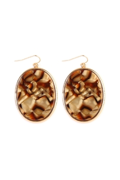 Shoptiques Product: Faceted Marble-Drop Earrings
