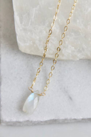 Mesa Blue Faceted Moonstone Necklace - Product Mini Image