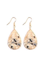 Riah Fashion Faceted Teardrop Marble-Earrings - Product Mini Image