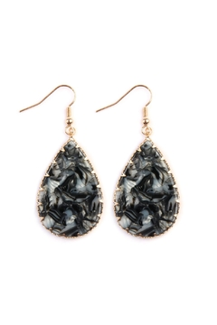 Riah Fashion Faceted Teardrop Marble-Earrings - Alternate List Image