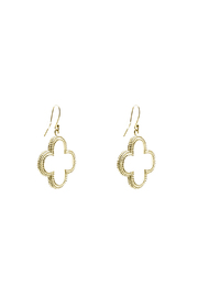 KTCollection Gold Clover Earrings - Product Mini Image