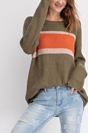 easel Faded Color-Block Top - Product Mini Image