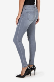 Kut from the Kloth Faded Gray Distressed Denim - Product Mini Image