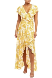 luxxel Faded Leaves Wrap-Dress - Product Mini Image