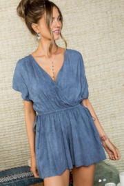 Main Strip Faded navy romper - Product Mini Image
