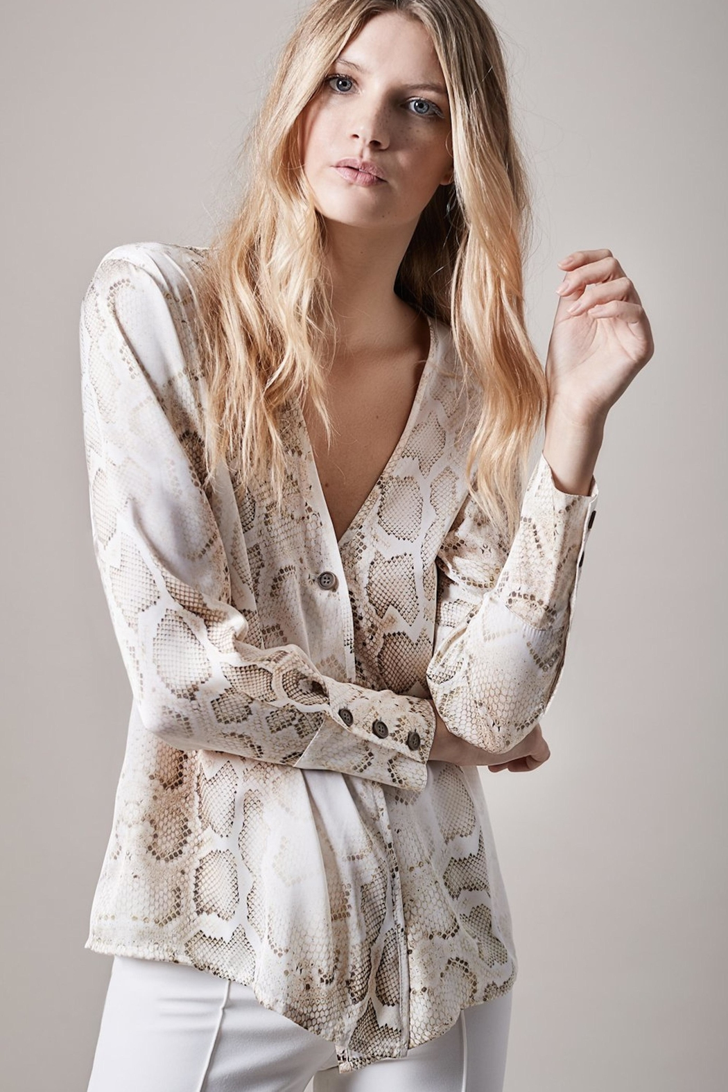 Smythe Faded Python Blouse - Main Image