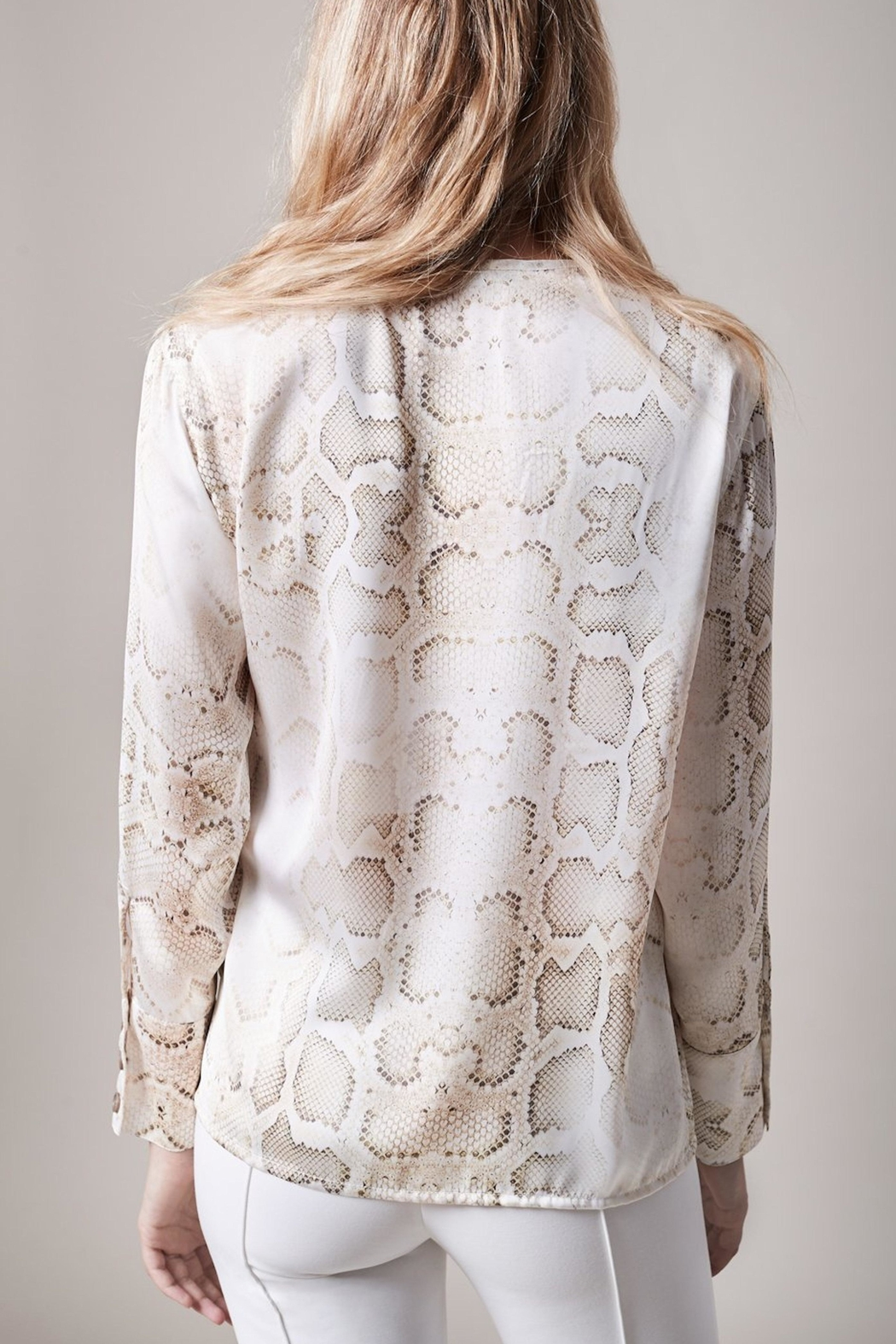 Smythe Faded Python Blouse - Front Full Image