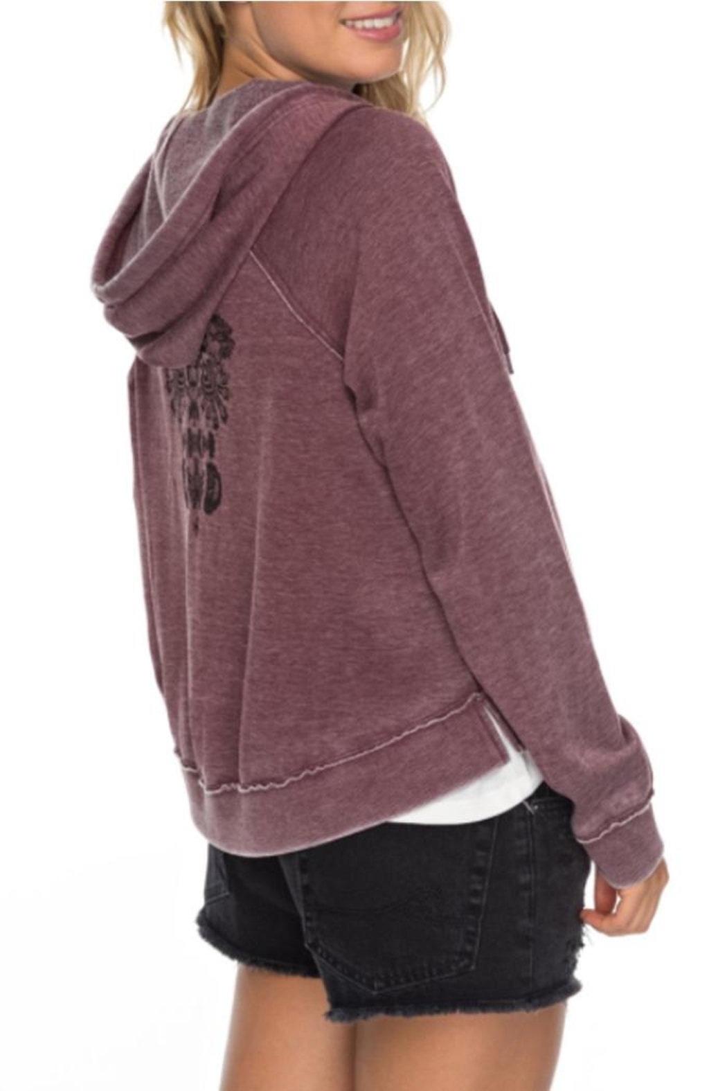 Roxy Faded Zip-Up Hoodie - Side Cropped Image
