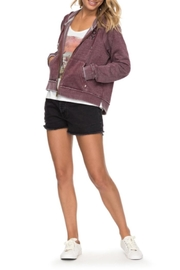 Roxy Faded Zip-Up Hoodie - Front cropped