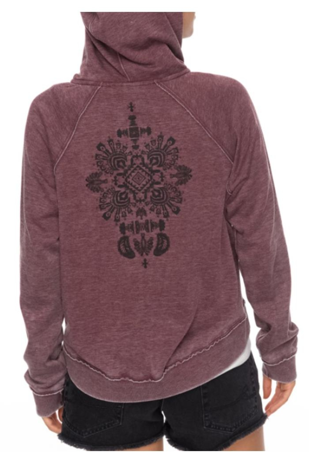 Roxy Faded Zip-Up Hoodie - Back Cropped Image