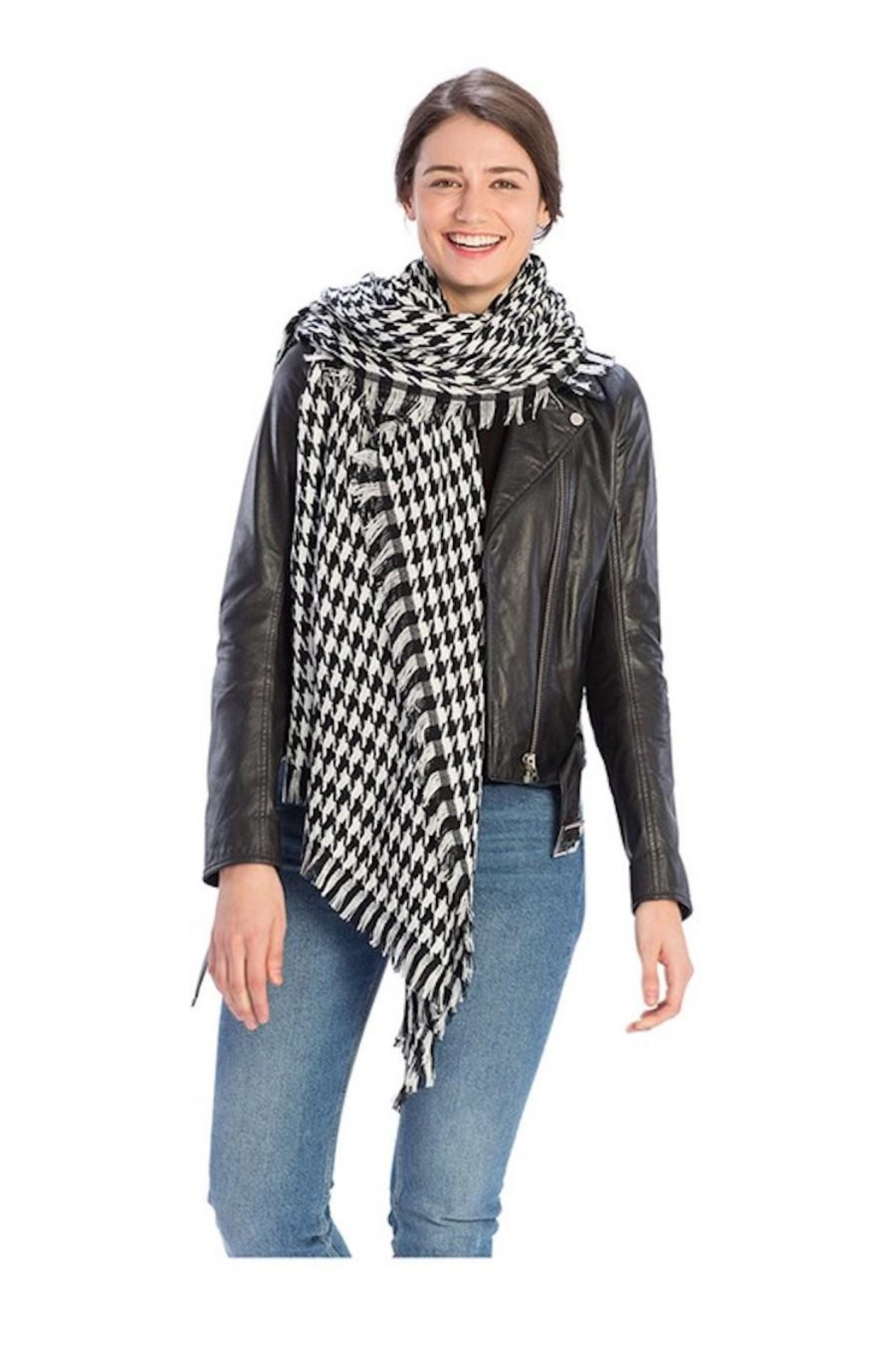 FADIVO New York Black & White Scarf - Front Full Image