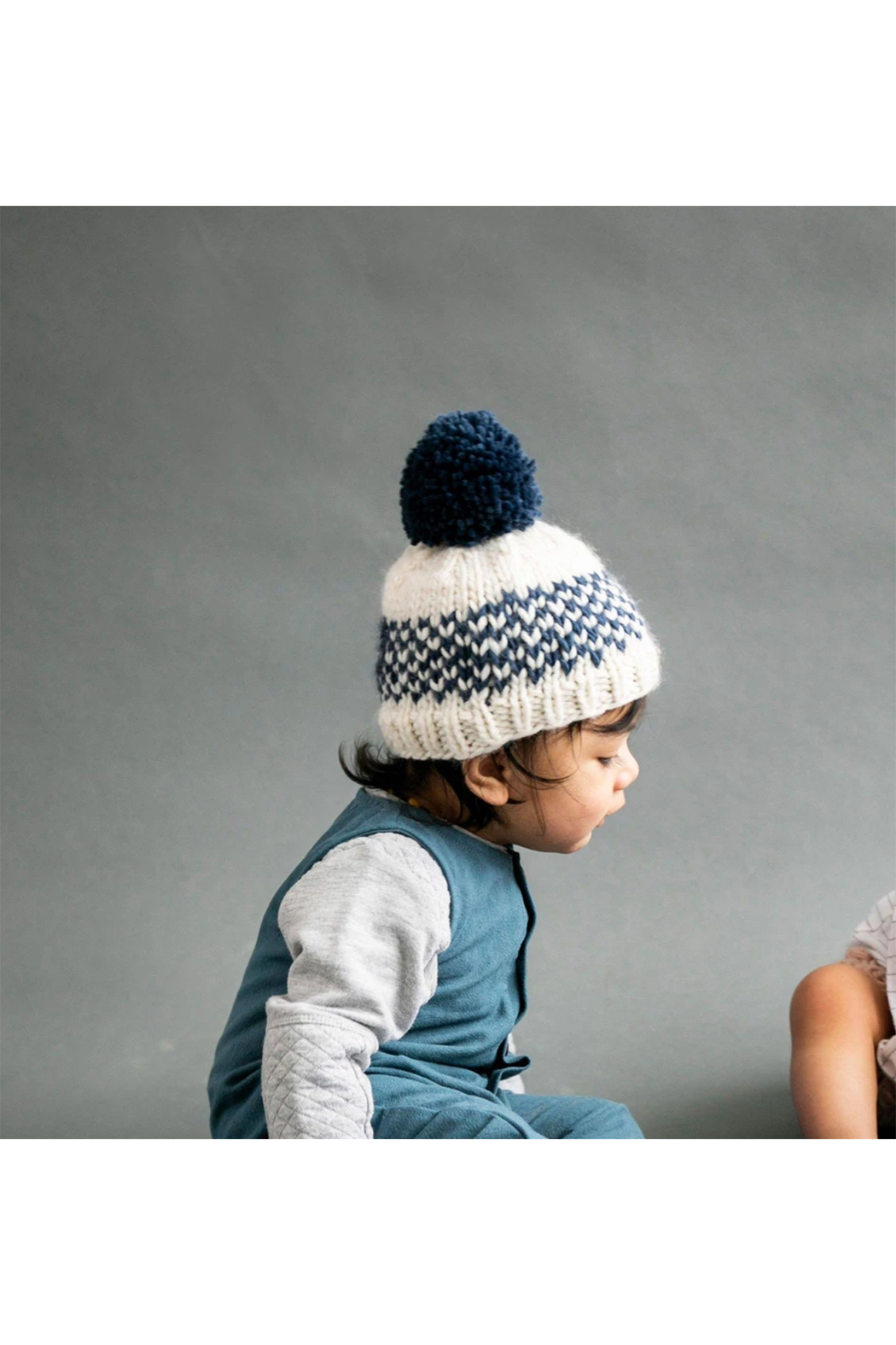 The Blueberry Hill Fair Isle Hat - Denim - Front Full Image