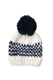 The Blueberry Hill Fair Isle Hat - Denim - Front cropped