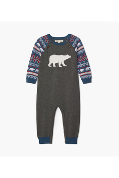 Hatley Fair Isle Polar Bears Baby Sweater Romper - Product List Image