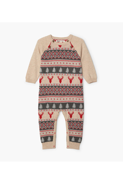 Shoptiques Product: Fair Isle Stag Baby Romper