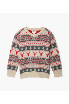 Shoptiques Product: Fair Isle Stag V-Neck Sweater