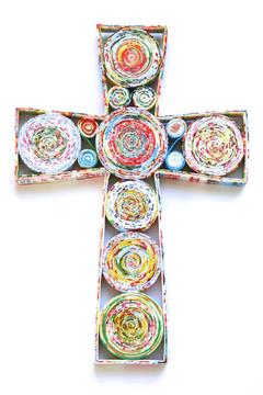 Shoptiques Product: Recycled Magazine Cross