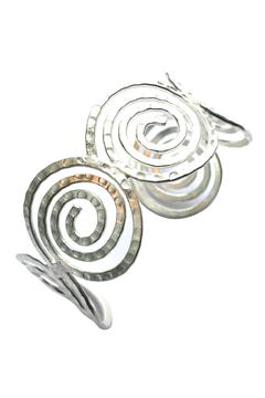 Shoptiques Product: Spiral Silver-Overlay Cuff