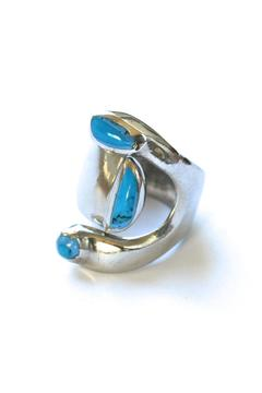 Fair & Square Imports Turquoise Stone Ring - Product List Image