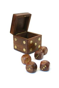 Shoptiques Product: Wooden Dice Box