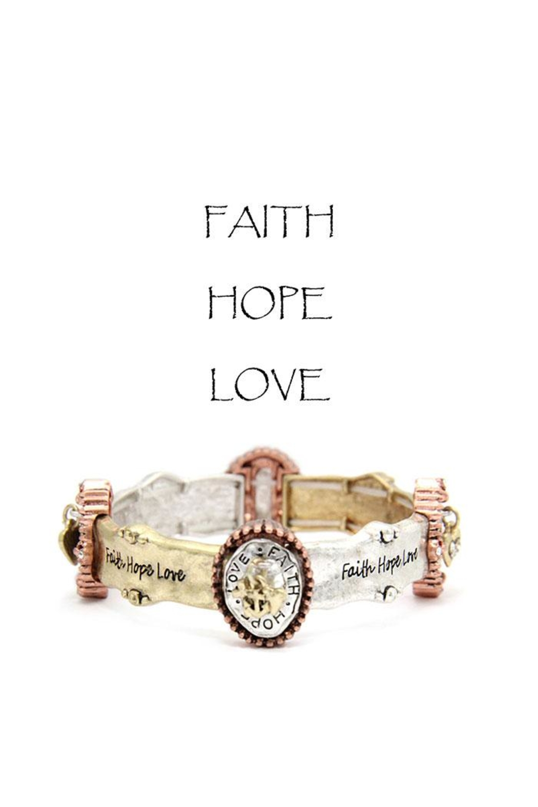 Something Special Faith-Hope-Love Bracelet - Front Cropped Image