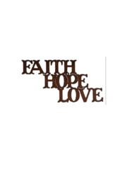 Rustic Ironweks Faith Hope Love Sign - Front cropped
