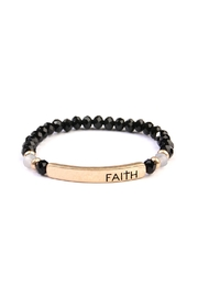 Riah Fashion Faith Stretch Bracelet - Product Mini Image