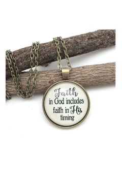 Never Lose Hope Designs Faith Timing Necklace - Alternate List Image