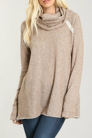 Faith Apparel Cowl Neck Mocha Top - Product Mini Image