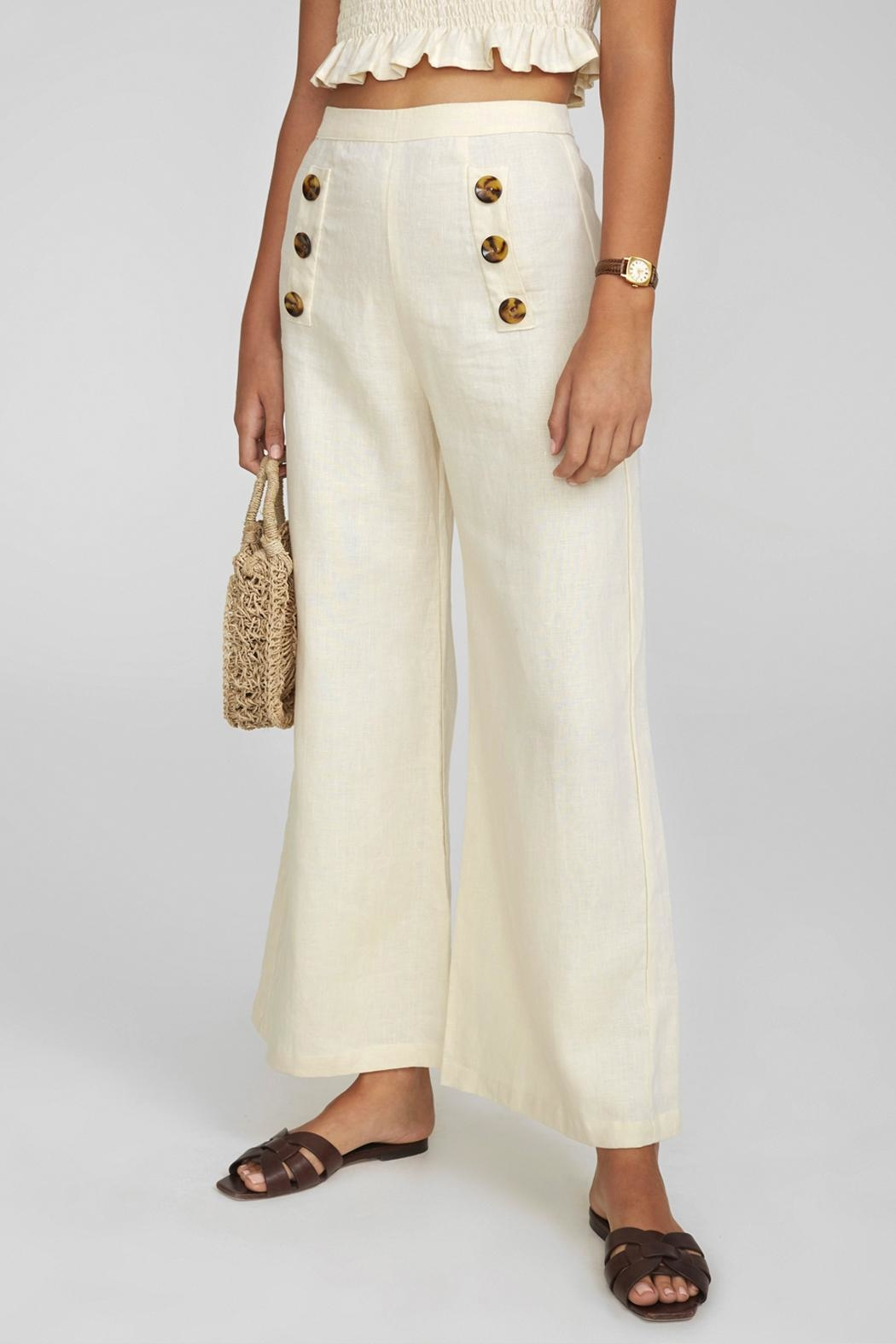Faithfull The Brand Adita Linen Pants - Side Cropped Image