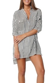 Faithfull The Brand Baia Stripe Shirt Dress - Product Mini Image