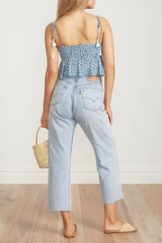 Faithfull The Brand Blue Floral Crop - Front full body