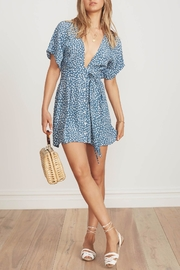 Faithfull The Brand Blue Floral Dress - Front cropped