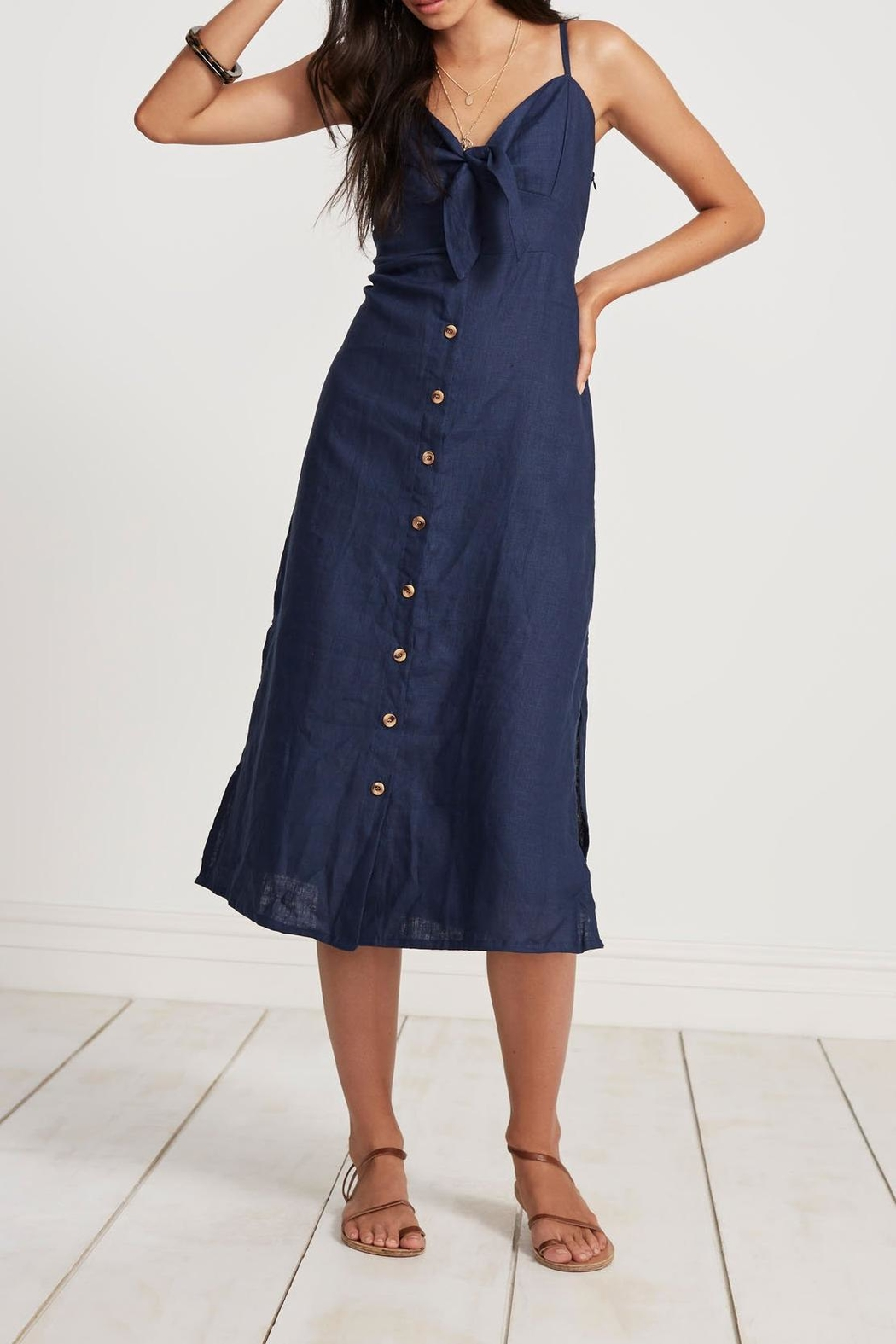 Faithfull The Brand Charlotte Midi Dress - Front Cropped Image